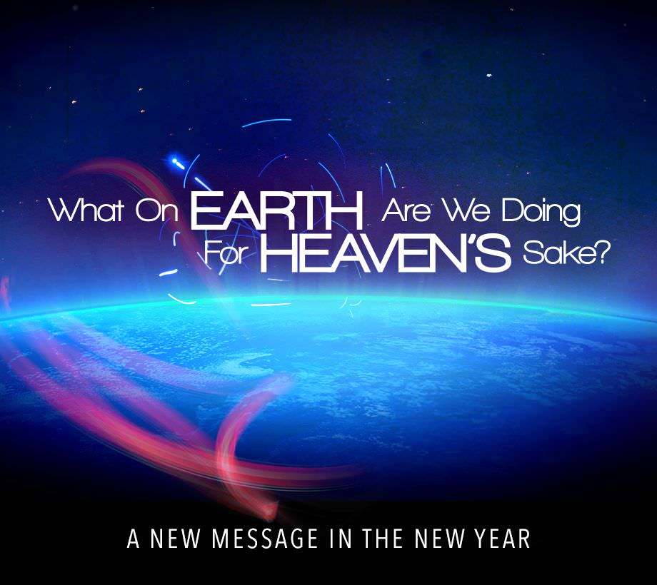 What on Earth Are We Doing for Heaven's Sake Series Artwork